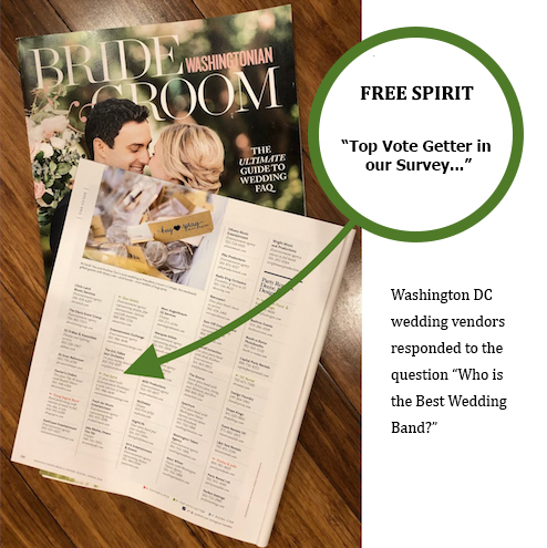 "Free Spirit Voted ""Best Band in Washington DC"""